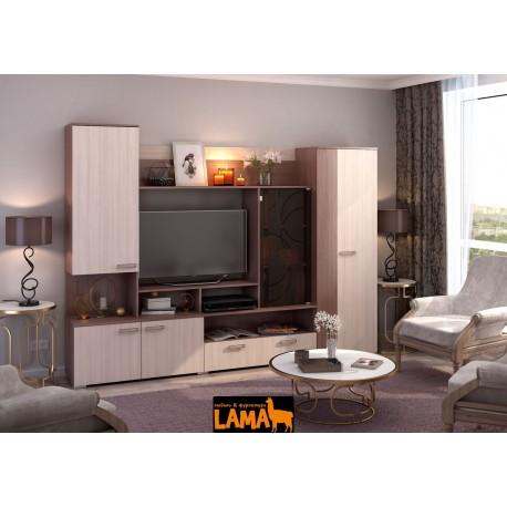 Сиенна - современная стенка со шкафом в гостиную фото