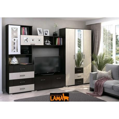 Яна - современная стенка со шкафом и под телевизор, в гостиную фото
