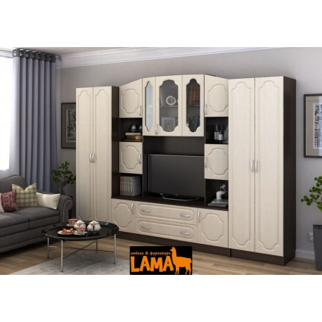 Гостиная Макарена - Стенка под телевизор, в современном стиле, со шкафом, фото