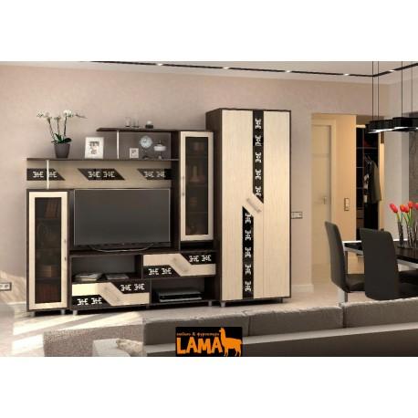 Гостиная Верона - Стенка под телевизор, в современном стиле, со шкафом, фото
