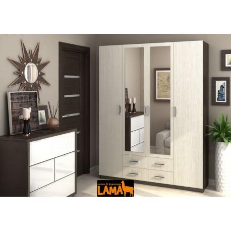 Распашной мебельный шкаф с зеркалом